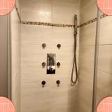 L'interieur de la douche